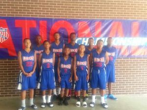 Here is a team picture of the San Antonio Legends AAU Basketball Team.  This was taken prior to one of their games at the 2013 AAU National Championships in Memphis, Tenn. (Photo via SA Legends Sports Academy)