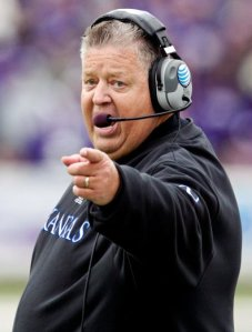 After his 3rd Big 12 Opener at the helm of the Kansas Jayhawks, Charlie Weis was fired. (DailyTexanOnline.com)