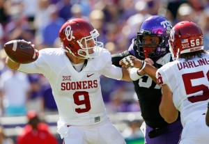 Trevor Knight struggled in Fort Worth on Saturday, as the No. 4 Sooners fell to No. 25 TCU. (Zimbio)