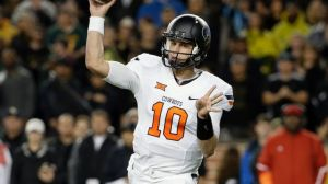 Mason Ruolph, a true freshman out of Rockhill, South Carolina, started in place of the injured Daxx Garman for Oklahoma State on Saturday, throwing for 281 yards. (ABC News)