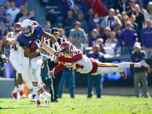Iowa State struggled in the 2014 season with their only wins coming against Toledo and Iowa.  However, some might credit the Cyclones with spoiling TCU's playoff hopes after TCU blew out Iowa State 55-3 in Fort Worth to end the season.  (USA Today/Gannett)