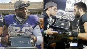 "This year featured the inaugural College Football Playoff, which the Big 12 didn't receive a bid.  This is in large part thanks to the conference's inability to declare ""One True Champion"" and giving TCU and Baylor a split championship regardless of Baylor's head-to-head advantage. (Outsidetheboxscore.com)"